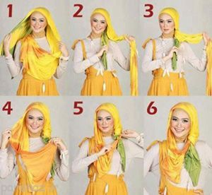 مدل های جدید بستن روسری در طرح های مختلف