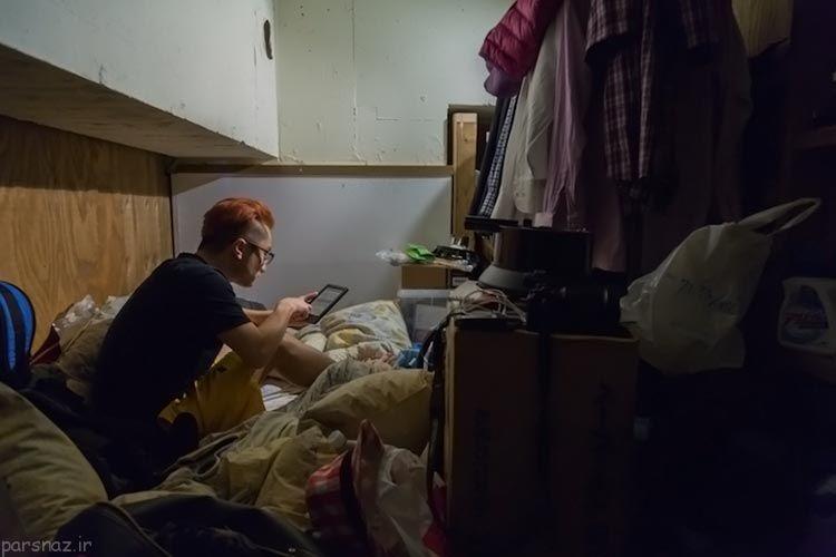 زندگی در فضای کوچک و محصور در توکیو ژاپن