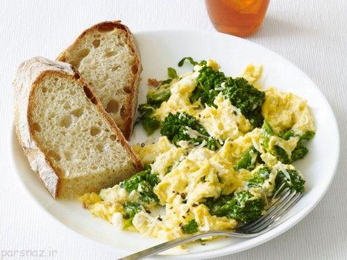 طرز تهیه غذایی با تخم مرغ و کلم بروکلی