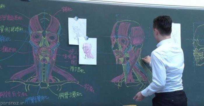 این معلم تایوانی با مهارت شگفت انگیز +عکس