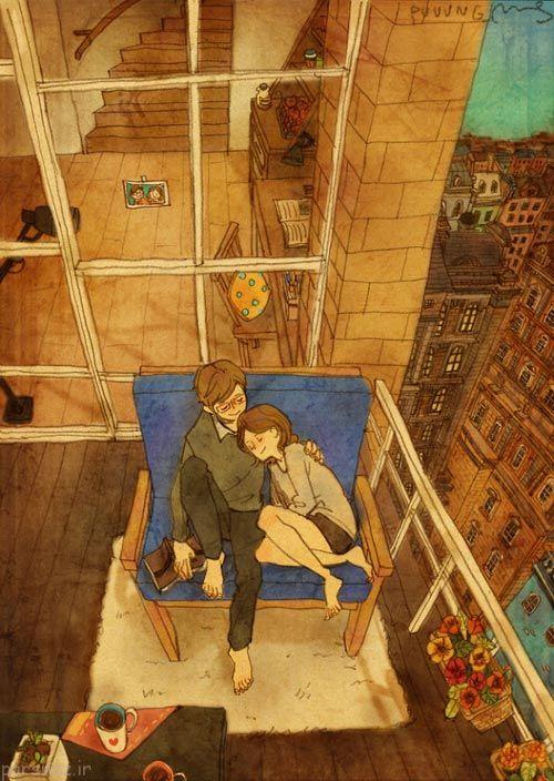 عکس هایی از روابط عاشقانه یک زوج در قاب تصویر