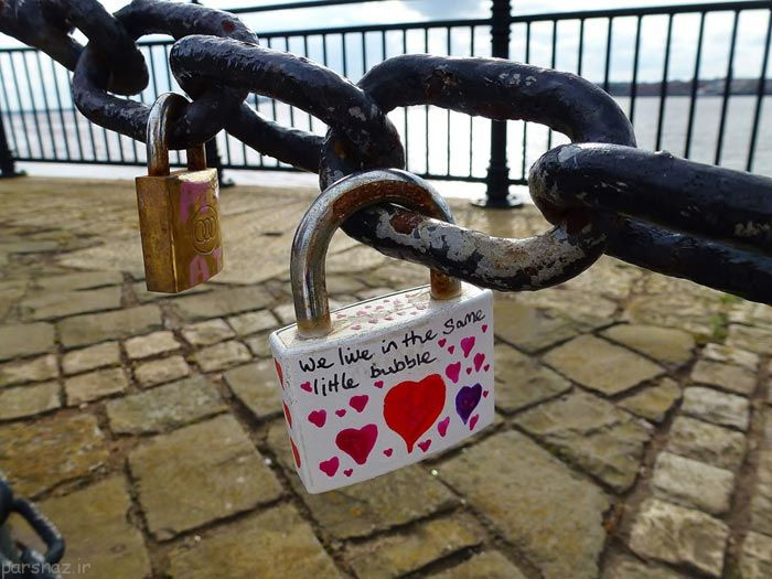 عکس های جالب از پدیده جهانی رمانتیک به نام قفل عشق