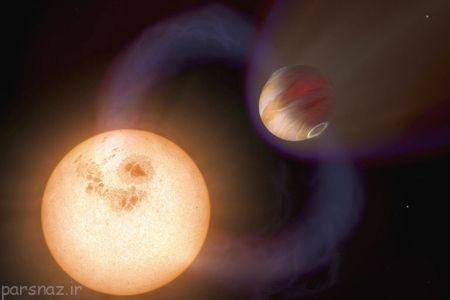 سیاره ای که سرعت چرخش ستاره اش را زیاد میکند