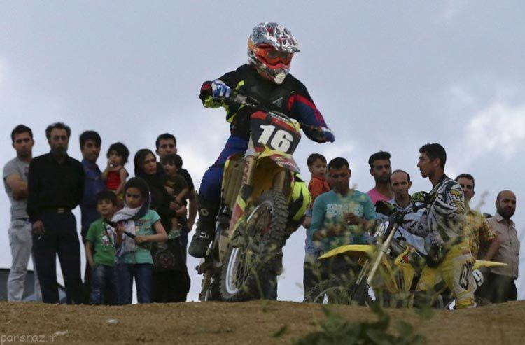 عکس های جالب از دختر موتورسوار ایرانی