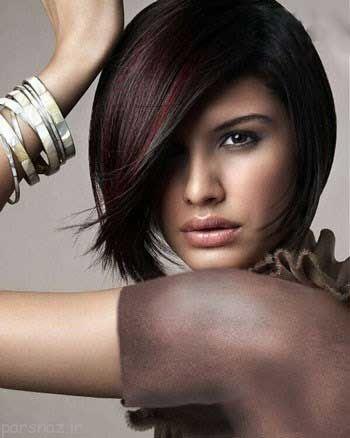 جدیدترین مدل موهای مشکی هایلایت ها شده