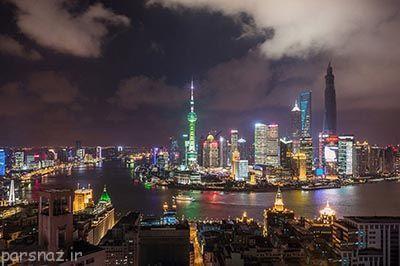 تصاویر زیبا و دیدنی از آسمان شانگهای