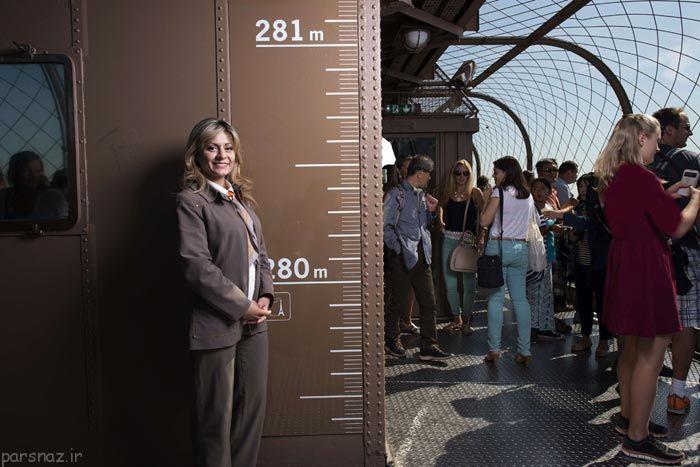 رویای قدم زدن در برج شیشه ای ایفل