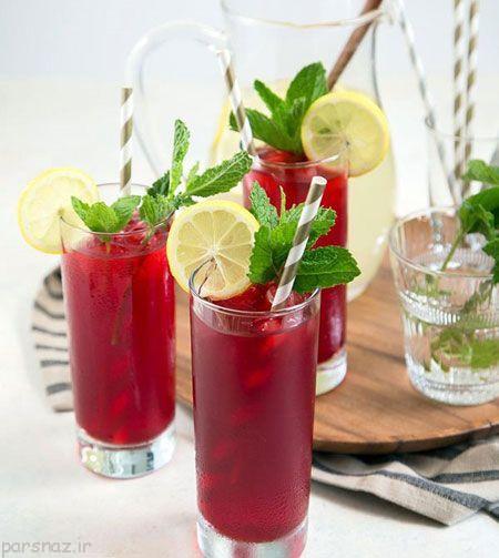 آموزش لیموناد چای ترش نعنایی ،نوشیدنی بعد از افطار