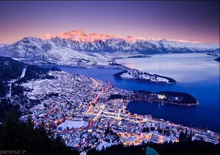 عکس های زیباترین شهرهای برفی دنیا
