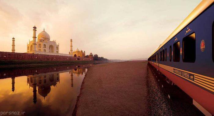 تصاویر عبور قطار از مناطق رویایی و زیبا