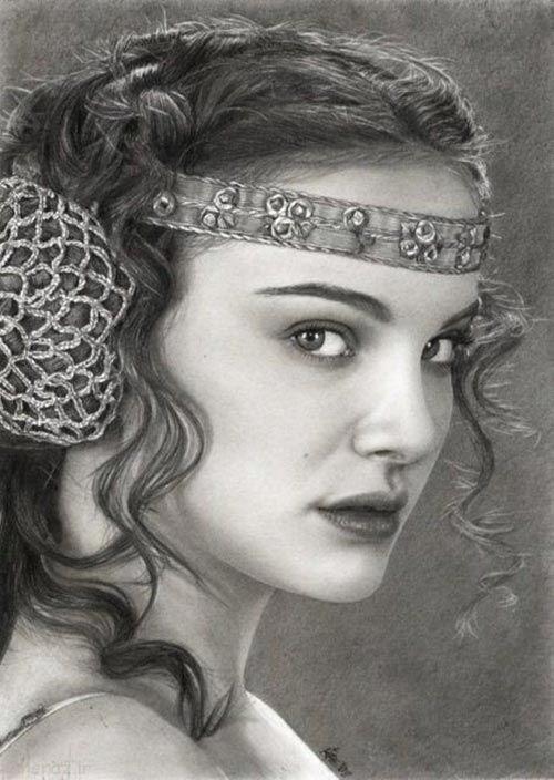 عکس های نقاشی سیاه قلم به صورت حرفه ای
