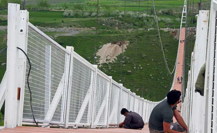 پل معلق اردبیل بلندترین پل در خاورمیانه + عکس