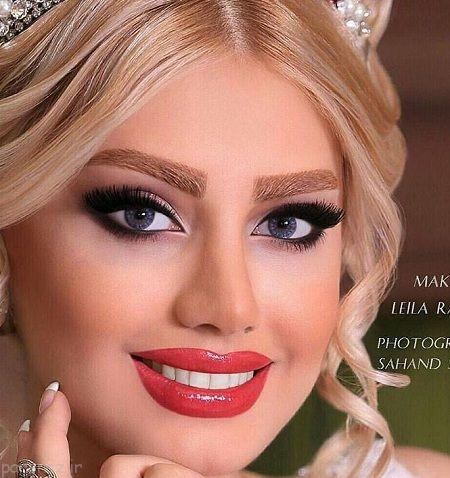 عکس های مدل آرایش عروس ایرانی 1396