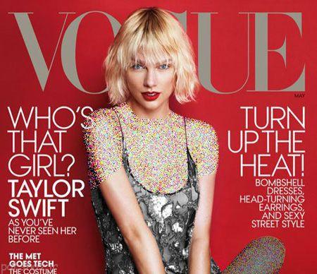تصاویر تیلور سویفت روی مجله vogue قرار گرفت