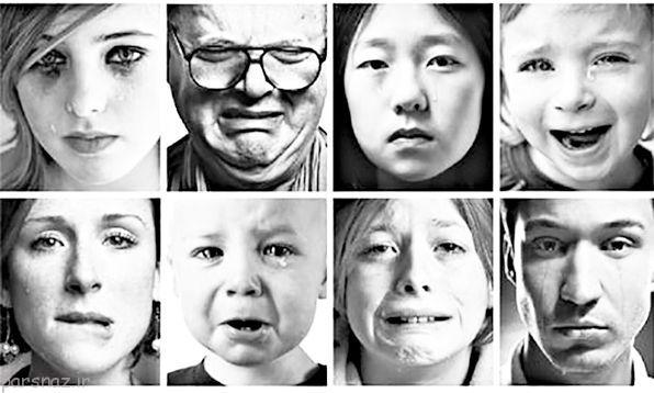 احساسات و گریستن رفتاری بشری