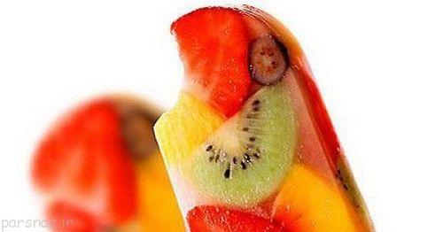 چگونه یخمک میوه ای درست کنیم؟