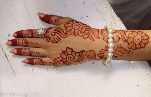 جدیدترین مدل های طراحی حنا روی دست