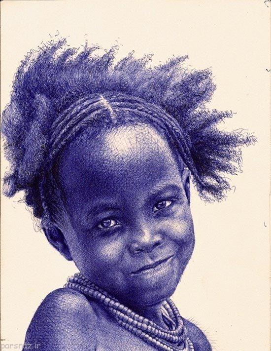 عکس های نقاشی زیبا با تنها یک خودکار بیک