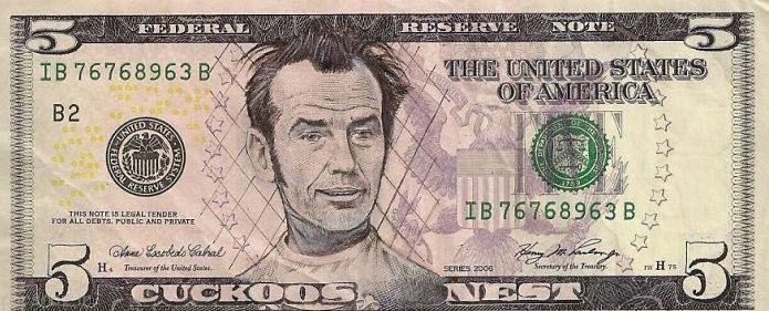 تصویر چهره ها بر روی دلار را ببینیم