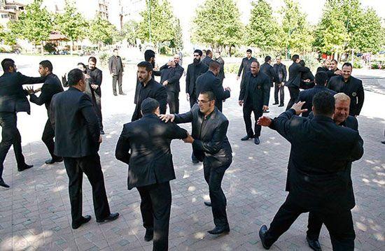 عکسهای دیدنی از دوره آموزشی گروه بادیگاردها در ایران