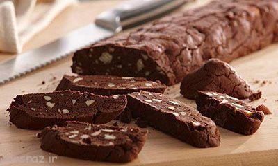 طرز تهیه دسر شکلاتی بصورت قالبی
