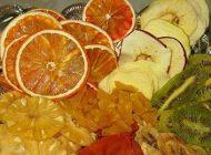 ارزش غذایی میوه های خشک