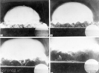 تست اولین بمب اتم جهان و انفجار آن +عکس