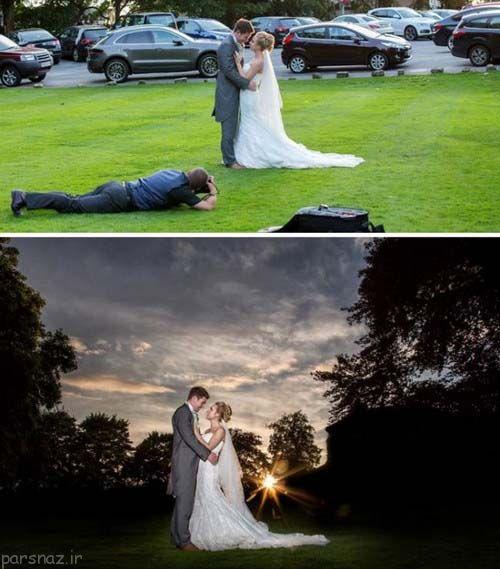 در پشت صحنه عکس های عروسی چه خبر است؟
