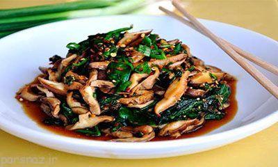 طرز تهیه خوراک اسفناج و قارچ با طعم عالی
