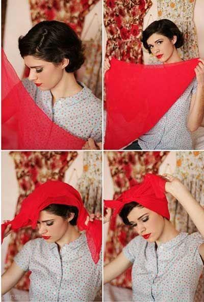 بستن دستمال سر زیبا و عالی برای خانم ها