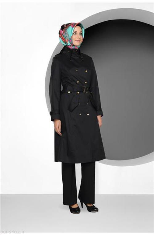 عکس های جدیدترین و زیباترین مدل مانتو های با حجاب کامل