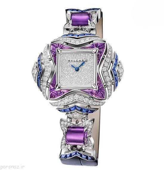 مدل ساعت مچی زنانه برند بولگاری +عکس
