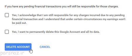 چگونه حساب کاربری گوگل را پاک کنیم؟