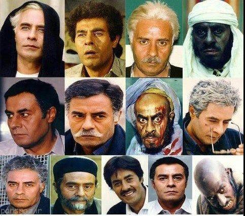 گریم های سنگین تاریخ سینمای ایران را ببینیم