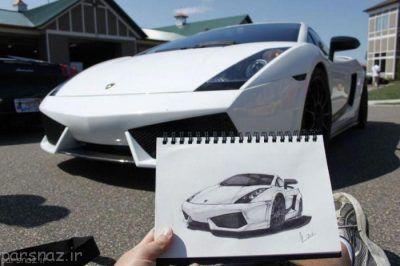 زیباترین طراحی های ماشین روی کاغذ