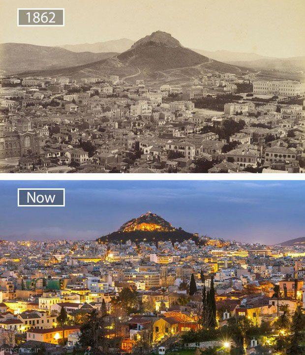 عکس های شهرهای مشهور جهان از قدیم تا جدید