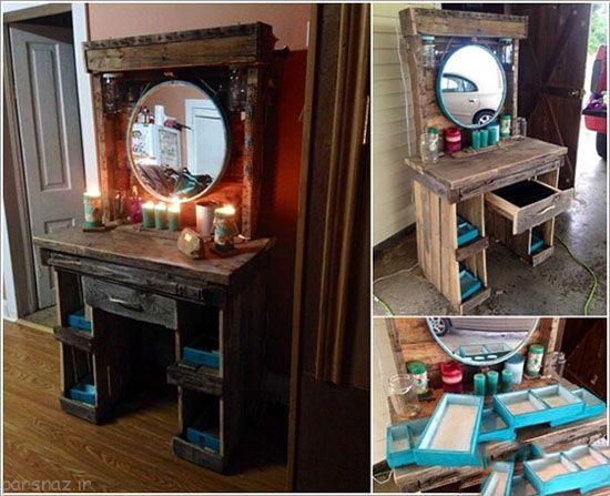 طراحی های زیبا و ارزان برای میز آرایش