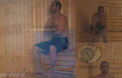 این مرد ایرانی در دمای 100 درجه رکورد زد