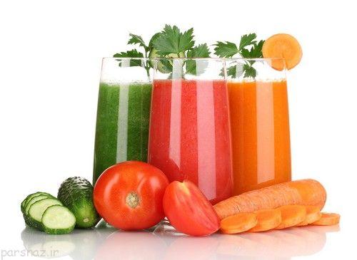 آب سبزیجات و نقش آنها در چاق شدن انسان