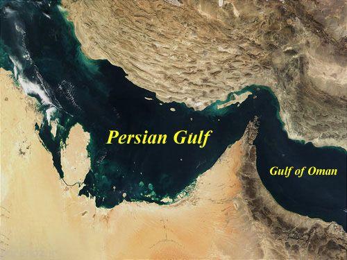 نام خلیج فارس روی دریای با شکوه ایران