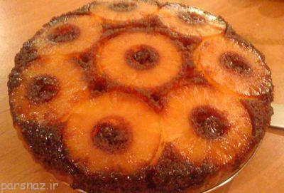باهم برای افطار کیک شکلات و آناناس درست کنیم