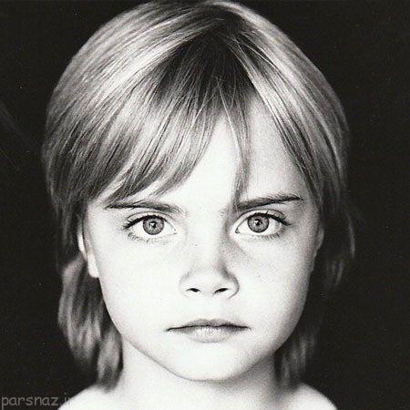 عکسهای کودکی سوپر مدل های زیبا و مشهور جهان