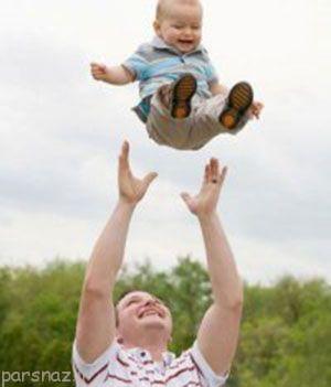 کودکان را به هوا پرتاب نکنید