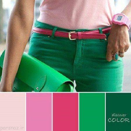 ست رنگ های تند در لباس های مد تابستانی