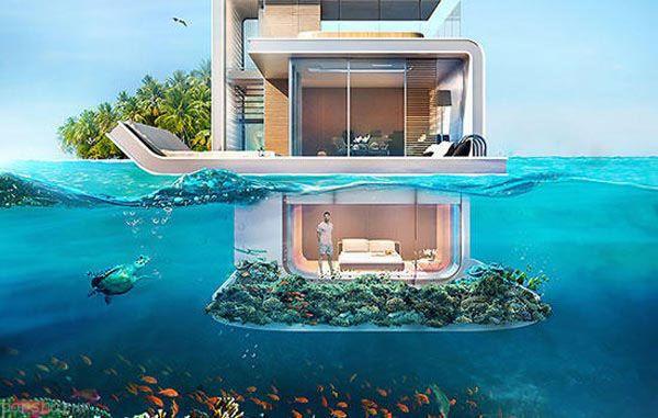 ساختمان های زیر آبی را با هم ببینیم