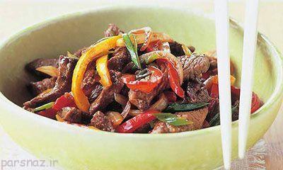 آموزش تهیه گوشت بره با سس لوبیا