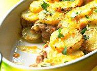 آموزش تهیه خوراک ماهی و سیب زمینی بصورت لایه ای