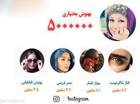 پنج زن ایرانی که بیشترین فالوور اینستاگرام را دارند