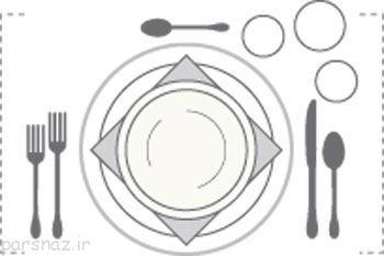 بهترین روش های چیدمان میز برای غذا