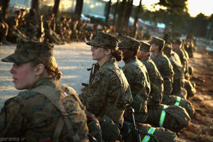 عکس های دیدنی از مانور نظامی سربازان زن